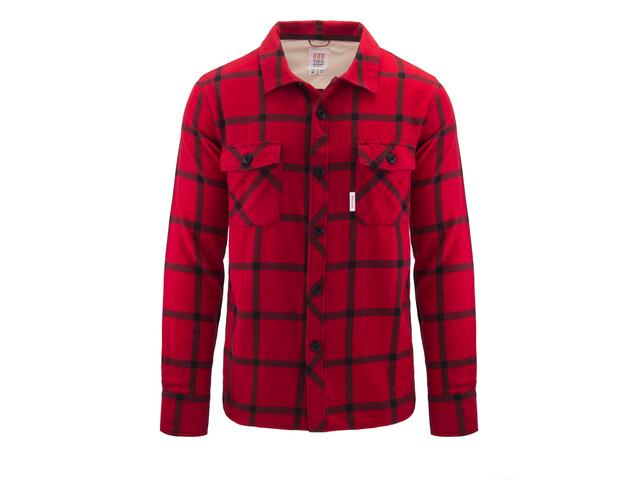 Topo Designs Field Plaid Camiseta Hombre, azul/rojo